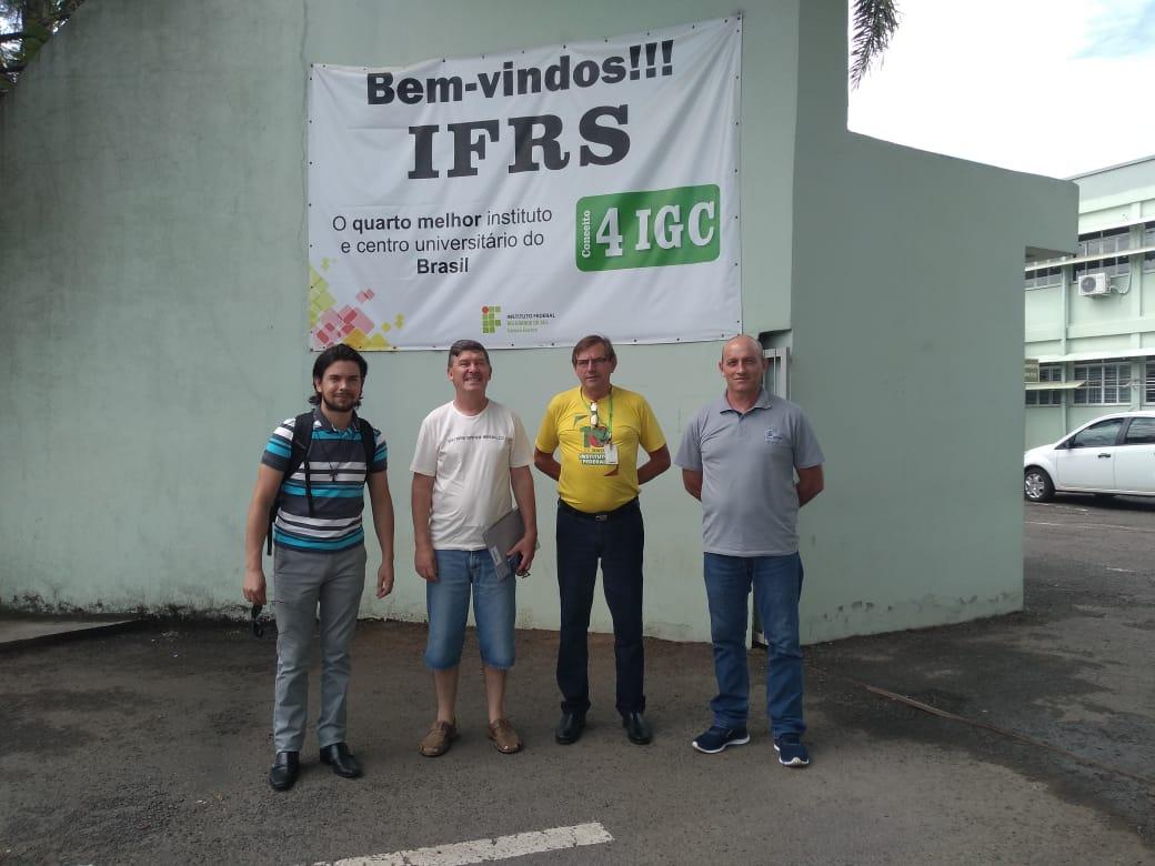 Ir para Dirigentes da Abraço RS visitam o IFRS Campus de Erechim.