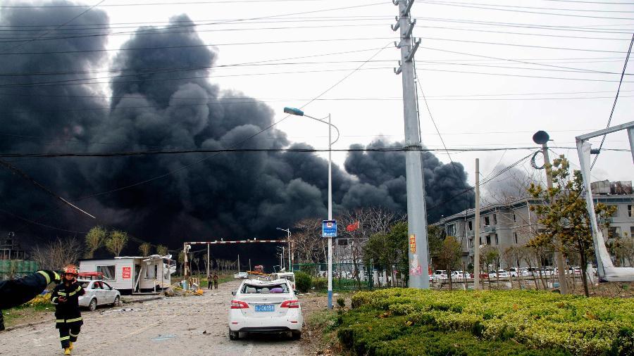 Ir para Sobe para 47 o número de mortos em explosão de fábrica na China.