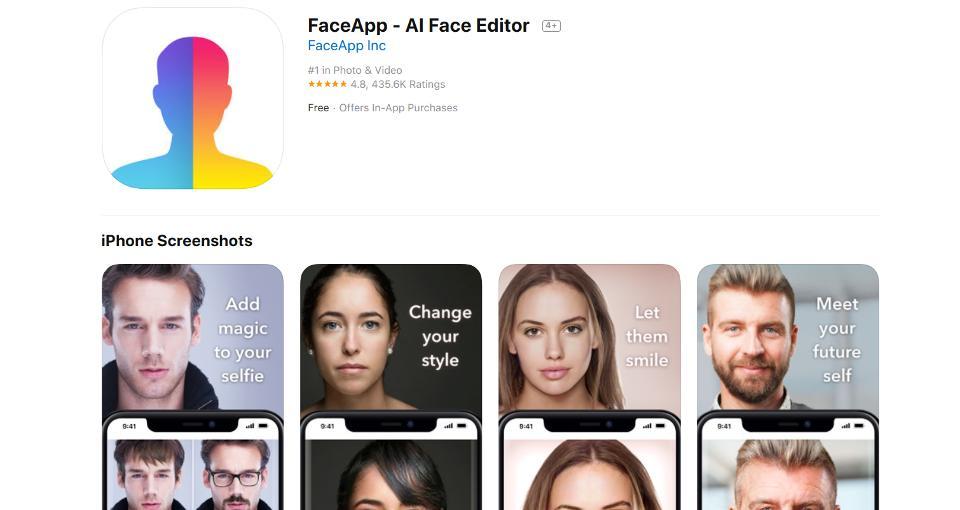 Ir para FaceApp pode abrir porta para abusos com dados dos usuários.