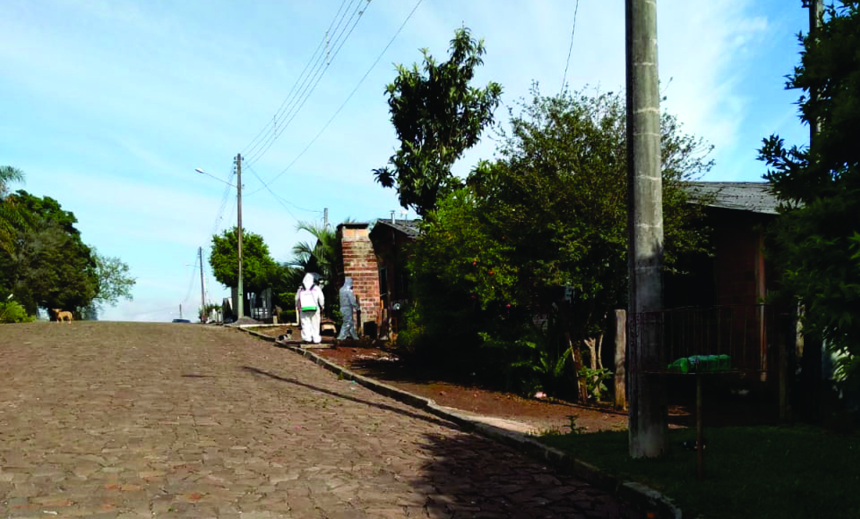 Gaurama realiza aplicação de repelentes no ambiente externo de residências