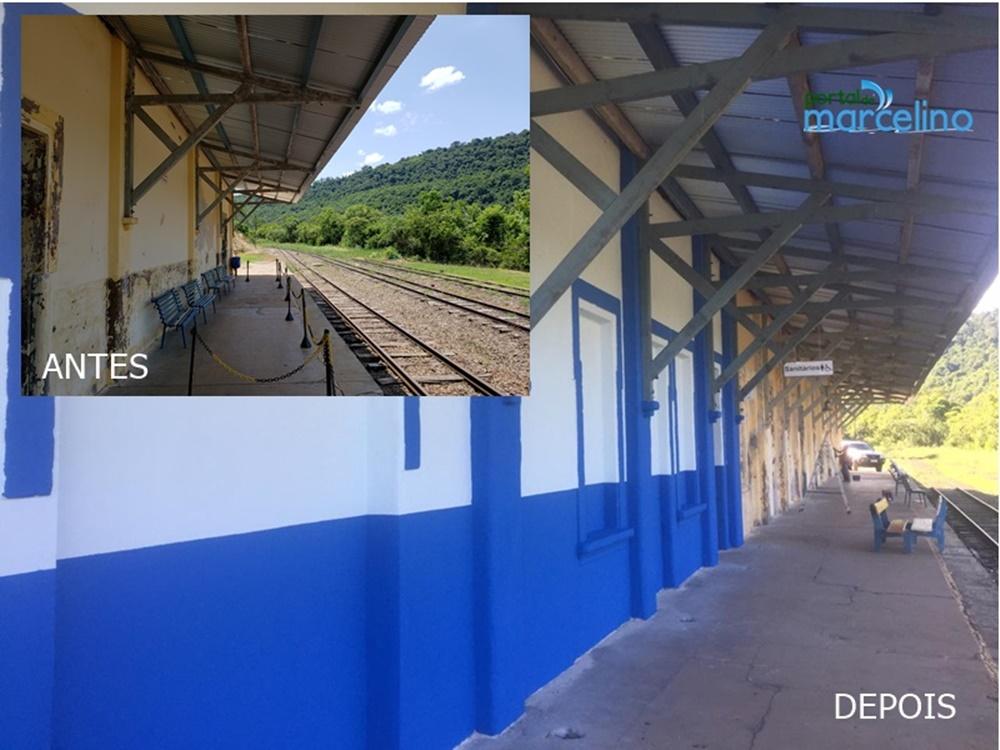 """Ir para Estação Ferroviária de Marcelino Ramos começa ganhar cores através do projeto """"Estação Viva"""""""