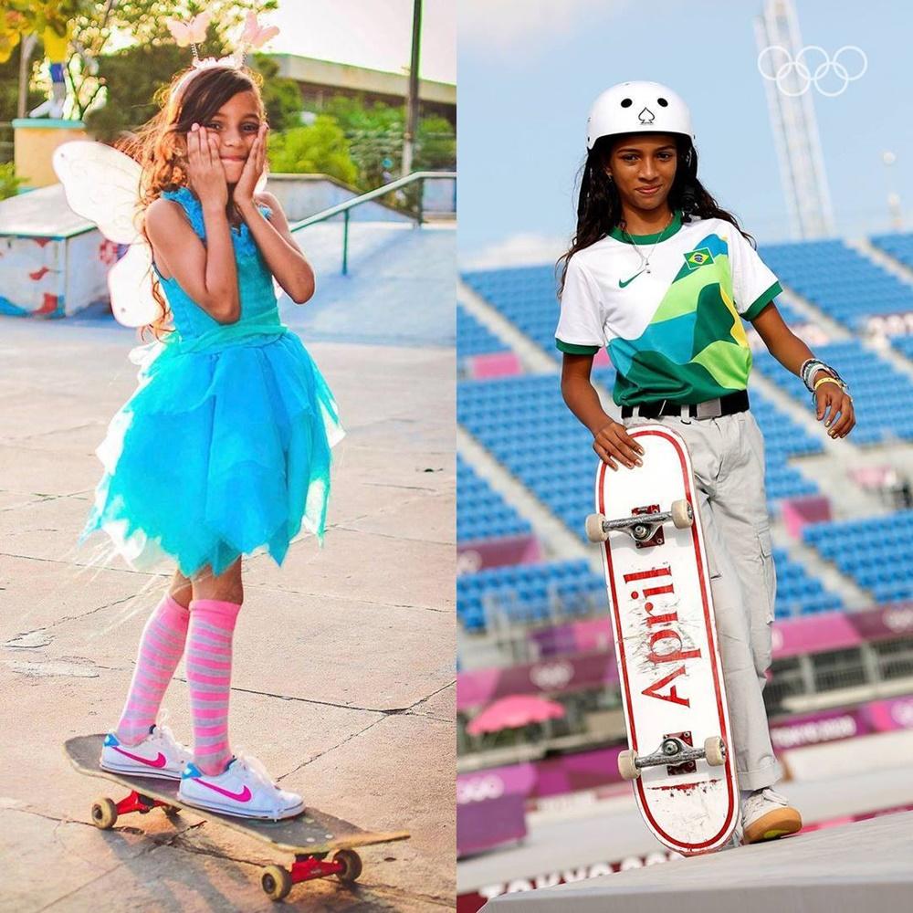 Ir para  <p><big>A maranhense Rayssa Leal, a Fadinha, de 13 anos, conquistou a prata na madrugada desta segunda-feira (26) no skate&nbsp;<em>street</em>&nbsp;na Olimp&iacute;ada de T&oacute;quio (Jap&atilde;o),...