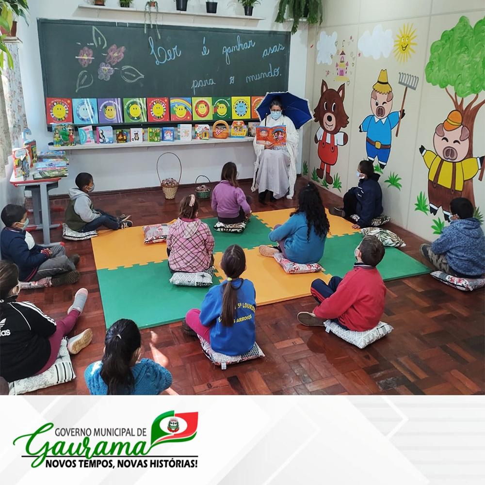 Ir para  <p><big>Na manh&atilde; desta quarta-feira (04 de agosto) foi realizada a inaugura&ccedil;&atilde;o da nova Sala de Leitura da ESCOLA MUNICIPAL SANTO ISIDORO.&nbsp; Como parte do projeto anual da escola LER...